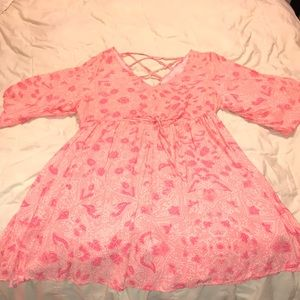 Paisley pink summer dress or beach/pool cover up